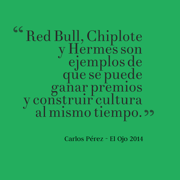 Cita Carlos Pérez El Ojo 2014