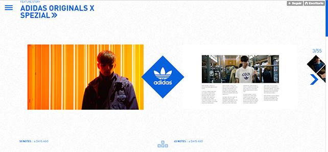 Tumblr de Adidas - marcas en Tumblr