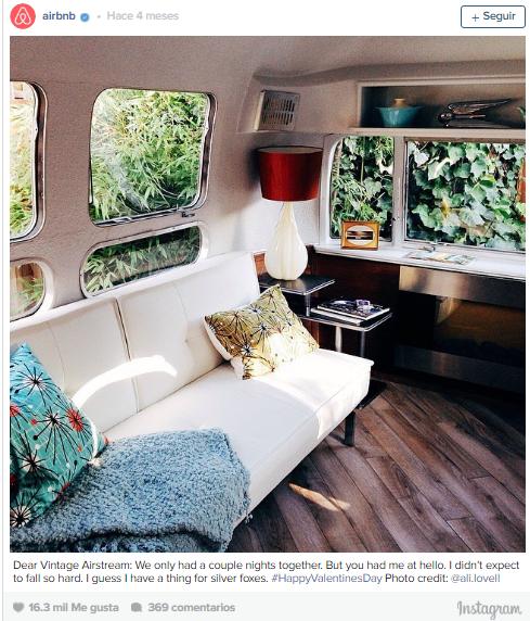 airbnb - ejemplo voz de marcas