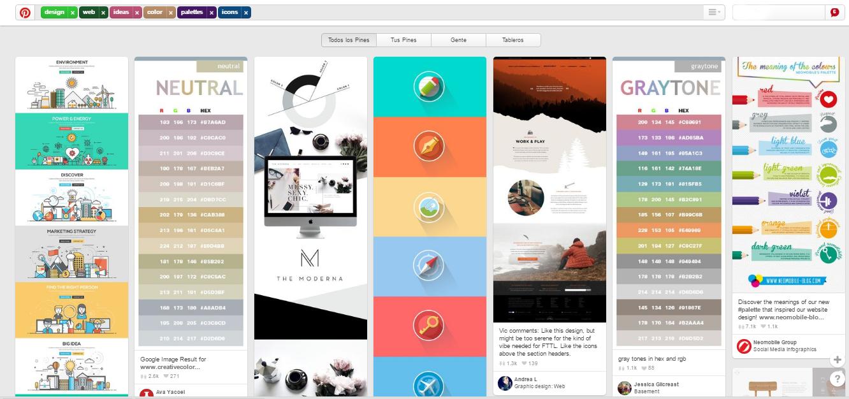 Pinterest - Fuentes de inspiración para diseñadores