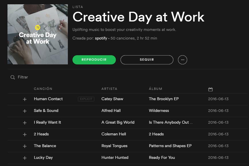 Spotify - Fuentes de Inspiración