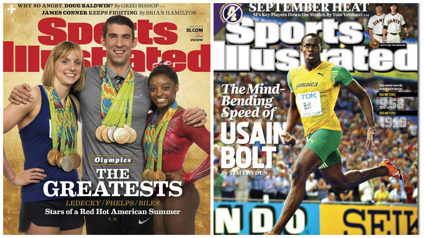Simone Biles - Usain VBolt - Michael Phelps