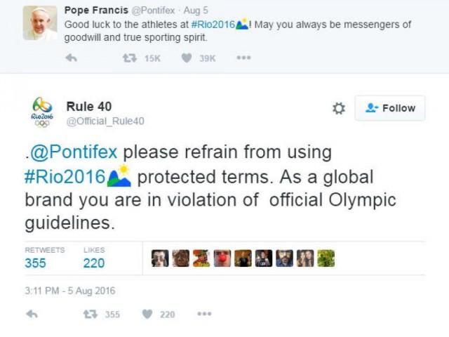 Regla 40 - Juegos Olimpicos