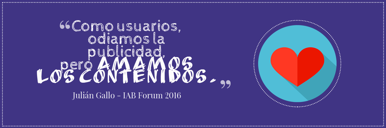 Julián Gallo en IAB Forum 2016
