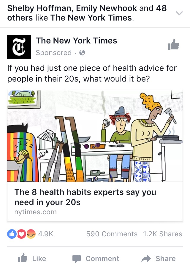 NYT mobile ad